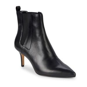 "Lord & Taylor ""Daisy""Heeled Leather Pointy Booties"